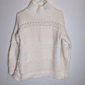 Lou & Grey Mock Neck Turtleneck Sweater